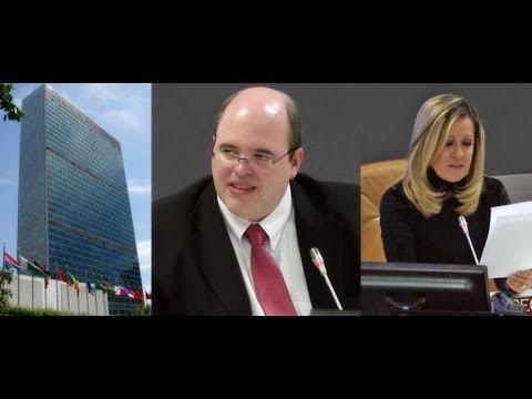 ONU, Evento de 2012 – Palestra de Benjamin Teixeira de Aguiar (parte 1), precedida da apresentação de Thaïs Bezerra (05/11/2012).