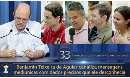 Benjamin Teixeira de Aguiar canaliza mensagens mediúnicas com dados precisos que ele desconhecia
