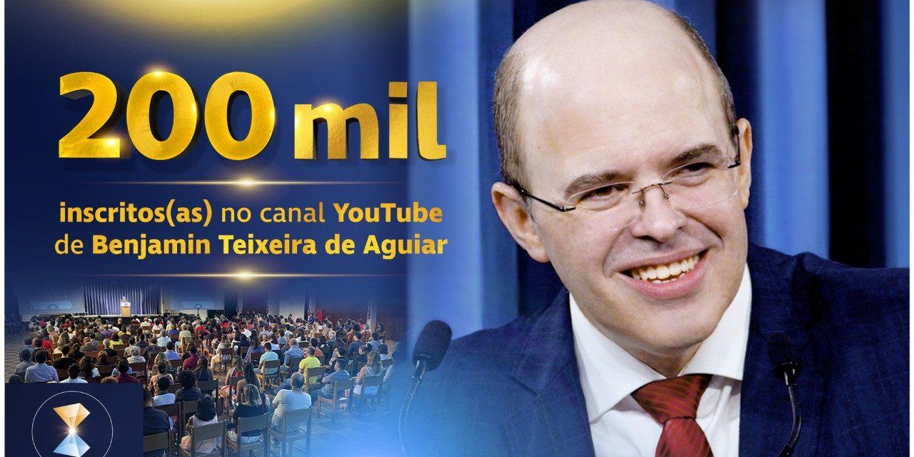 200 mil inscritos(as) no canal YouTube de Benjamin Teixeira de Aguiar