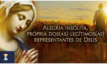 Alegria insólita, própria dos(as) legítimos(as) representantes de Deus