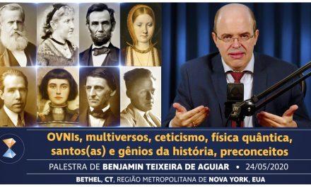OVNIs, multiversos, ceticismo, física quântica, santos(as) e gênios da história, preconceitos
