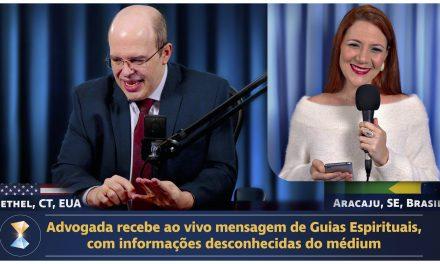 Advogada recebe ao vivo mensagem de Guias Espirituais, com informações desconhecidas do médium