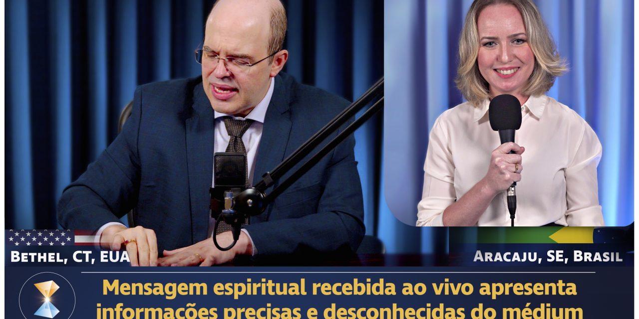 Mensagem espiritual recebida ao vivo apresenta informações precisas e desconhecidas do médium