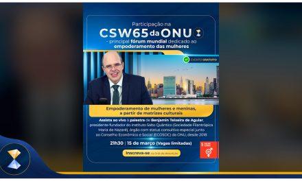 Instituto Salto Quântico marca presença na CSW65 da ONU
