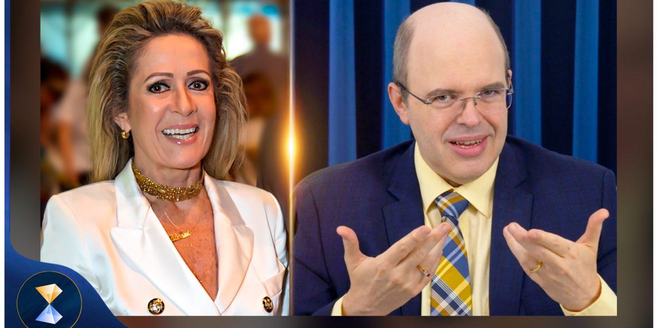 Benjamin Teixeira de Aguiar parabeniza a jornalista Thaïs Bezerra pelos 43 anos de êxito profissional