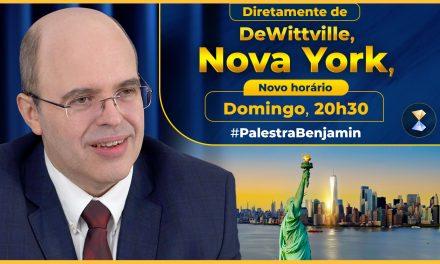 Diretamente de Nova York, respondendo a perguntas de internautas – palestra de Benjamin Teixeira de Aguiar