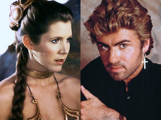 A misteriosa coincidência das mortes de Carrie Fisher e George Michael numa mesma semana