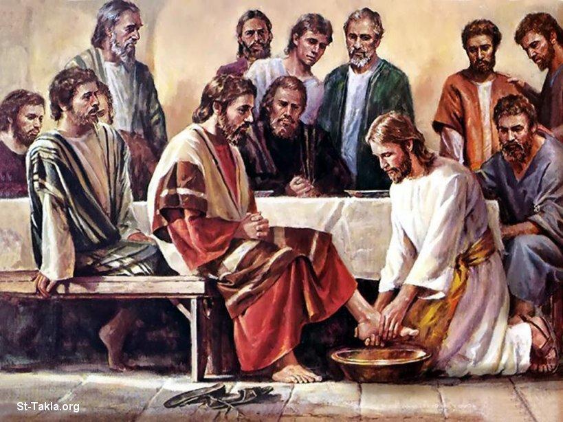 Culto do Evangelho com o Espírito Eugênia-Aspásia. Jesus lava os pés de Seus discípulos (João, 13:1-17).