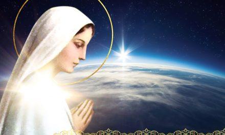 MARIA Santíssima aproxima-Se da crosta da Terra