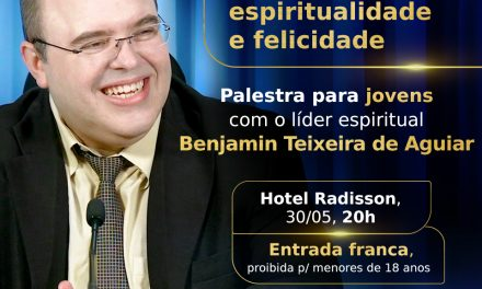 Palestra para jovens com o líder espiritual Benjamin Teixeira de Aguiar