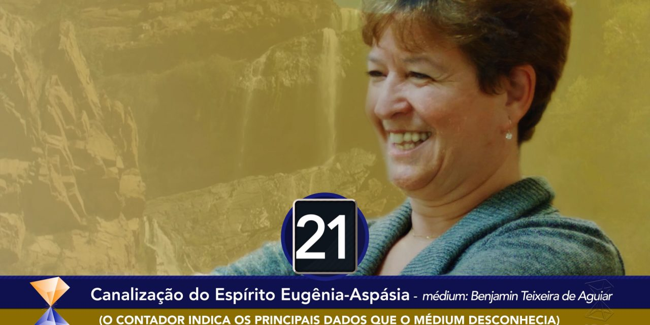 Espírito Eugênia-Aspásia se dirige a uma aluna residente nos EUA.