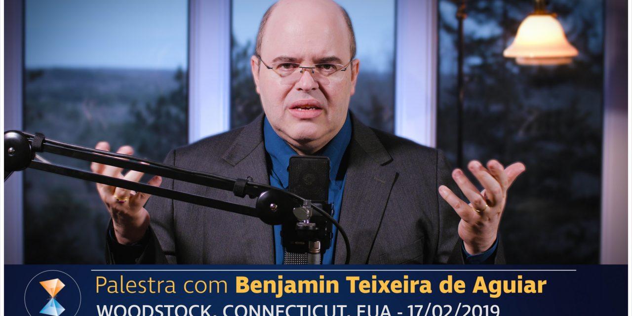 Benjamin Teixeira de Aguiar profere palestra em paisagem crepuscular coberta de neve