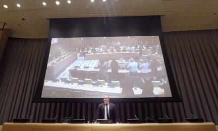 Em palestra domingueira de Benjamin Teixeira de Aguiar, exibição de sua 5ª conferência na sede mundial da ONU