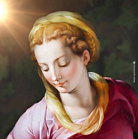 Invocando a bênção, na hora do Ângelus