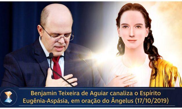 Benjamin Teixeira de Aguiar canaliza o Espírito Eugênia-Aspásia, em oração do Ângelus (17/10/2019)