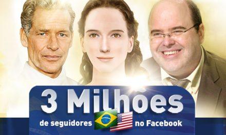 3 Milhões de seguidores no Facebook
