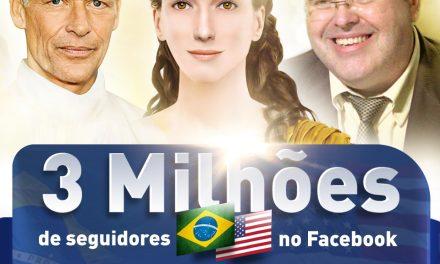 3 MILHÕES de fãs no Facebook!