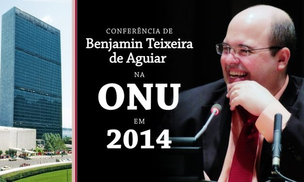Conferência de Benjamin Teixeira de Aguiar na ONU, em 2014