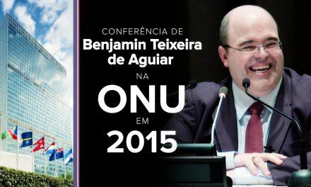 Conferência de Benjamin Teixeira de Aguiar na ONU, em 2015