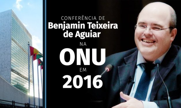 Conferência de Benjamin Teixeira de Aguiar na ONU, em 2016