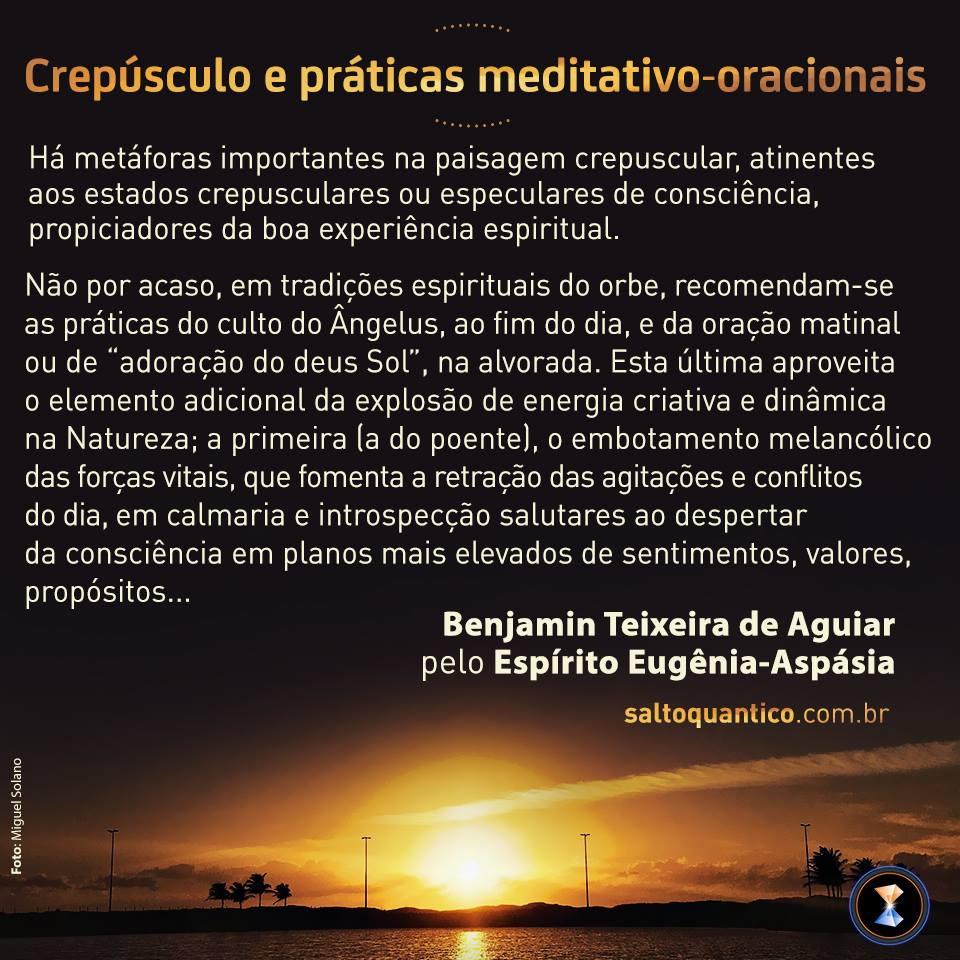 Crepúsculo e práticas meditativo-oracionais