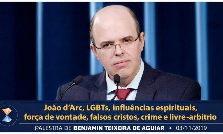 João d'Arc, LGBTs, influências espirituais, força de vontade, falsos cristos, crime e livre-arbítrio