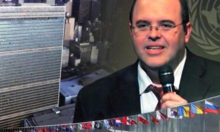 Publicação da palestra anual de Benjamin Teixeira de Aguiar na ONU, em 2013.