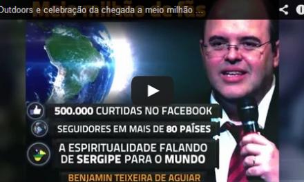 Outdoors e celebração da chegada a meio milhão de fãs na fan page de Benjamin Teixeira de Aguiar.