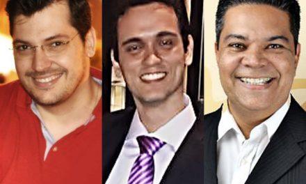 Paulo Soares, Luidje Barboza e Anderson Muniz.